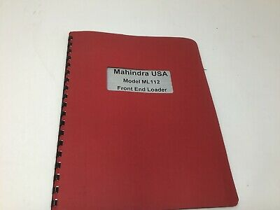 AU25.74 • Buy Mahindra Ml112 Tractor Front End Loader Operators Manual