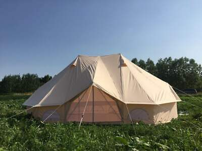 6M Emperor Twin One Door Bell Tent Luxury Glamping Family Beach Party Yurts Tent • 1,058.88£