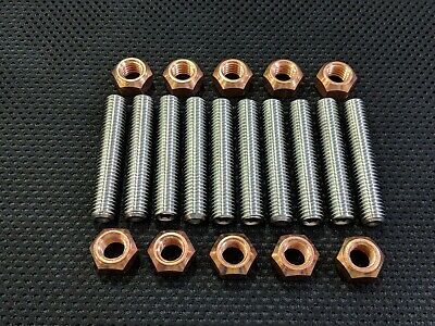 ASTRA VXR STAINLESS EXHAUST MANIFOLD STUDS AND COPPER NUTS Z20leh Let Ect X10 • 10.45£