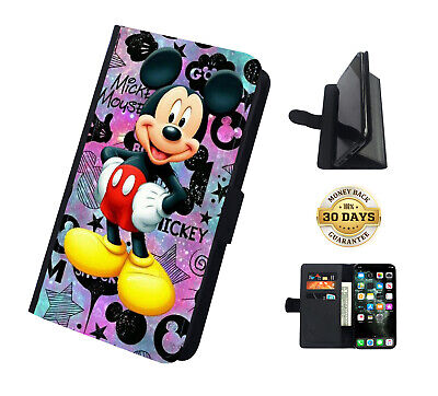 AU18.99 • Buy Mickey Mouse Disney Stars Sky Leather Flip Case Cover Wallet Stand Function