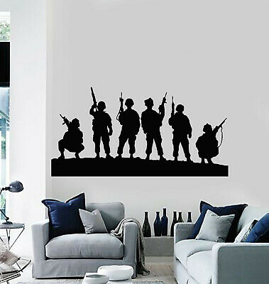 $69.99 • Buy Vinyl Wall Decal Children Soldiers Military Weapons War Stickers Mural (g1051)