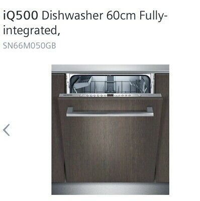 View Details Siemens SN66M050GB Full-Size Integrated Dishwasher 600 Wide Brand New High Spec • 449.99£