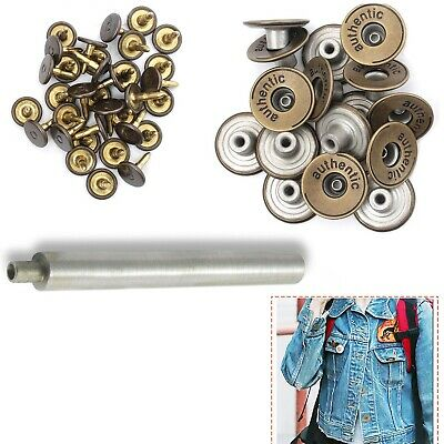 20mm Denim Replacement Bronze Jean Button Brass With Pins For Jackets Trousers • 2.20£