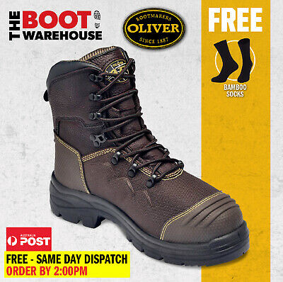 $ CDN196.17 • Buy Oliver 65490 150mm Work Boots Steel Cap Safety Lace-Up 100% WATERPROOF!