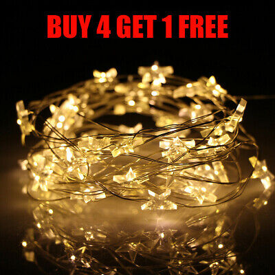 100 LED Battery Operated Star Light Fairy String Lights Party Xmas Lamp Decor UK • 0.99£
