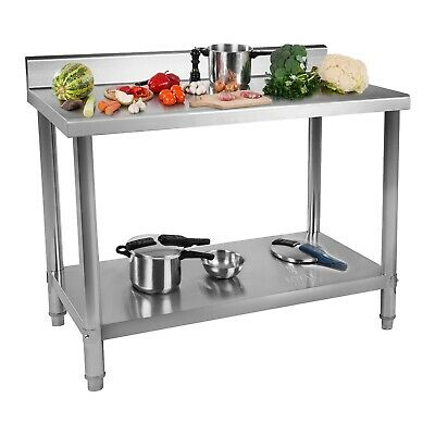 Stainless Steel Work Table Commercial Kitchen Catering Worktop Food Prep Top • 139£