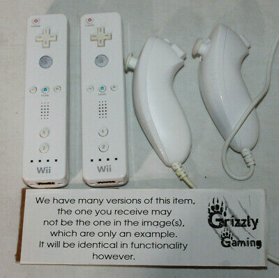 $ CDN39.99 • Buy 2x Genuine Nintendo Wii Remote Controllers Official Wii / Wii U + Nunchuck(s)