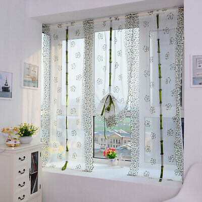 Window Curtains For Living Room Floral Sheer Tulle For Bedroom Modern Drapes Q • 6.29£