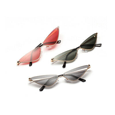 AU19.99 • Buy Sunglasses Womens Fashion Retro Vintage Cat Eye Triangle Metal Glasses OW Gift