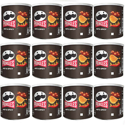 Pringles Hot And Spicy Flavour Snack Würzig Scharf 40g 12er Pack • 8.38£
