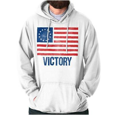 Victory Betsy Ross American Flag Patriotic US Adult Long Sleeve Hoodie Sweatshir • 14.33£