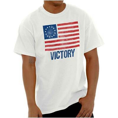 Victory Betsy Ross American Flag Patriotic US Adult Short Sleeve Crewneck Tee • 9.31£