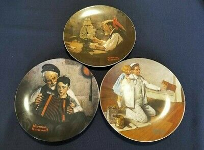 $ CDN58.38 • Buy Lot Of 3 Vintage 1980s Knowles Norman Rockwell Limited Edition Collector Plates