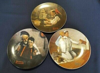 $ CDN59.99 • Buy Lot Of 3 Vintage 1980s Knowles Norman Rockwell Limited Edition Collector Plates