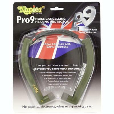Napier Pro 9 Ear Defenders Hearing Protection Shooting UK Model P9 Comfort Plug • 44.99£