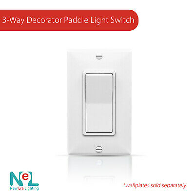 15A 120/277V Paddle Wall Light Switch On/Off Rocker Switches   White • 2.99$