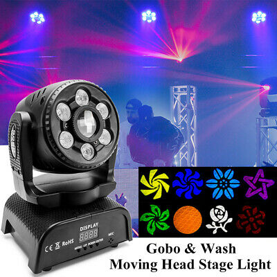 100W Gobo & Wash Moving Head Light DMX Patterns LED Stage Lighting Party DJ Club • 81.29£