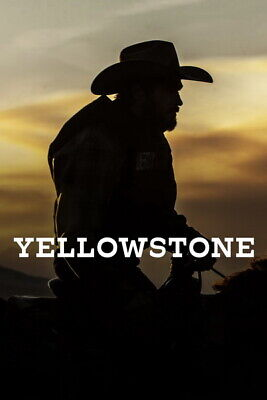 AU9.99 • Buy 008 Yellowstone - Season 1 2 Kevin Costner USA TV Show 24 X36  Poster
