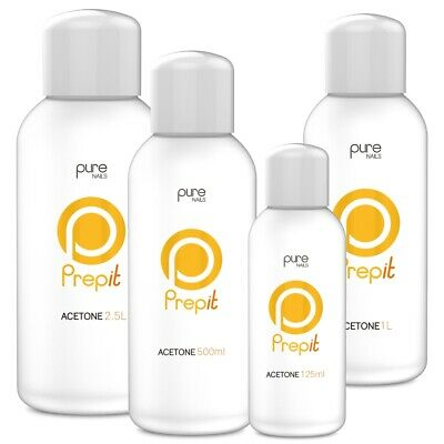 £10.99 • Buy Pure Nails 'Prep It' Pure Acetone Nail Tip, Acrylic, Soak Off Remover ALL SIZES