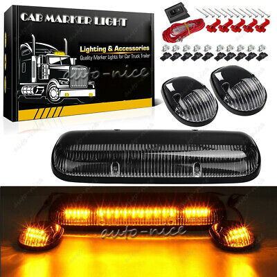 $62.99 • Buy Cab Top Roof Marker Lights Amber Yellow LED For 02-07 Chevy Silverado GMC Sierra