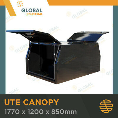 AU1288.65 • Buy Steel Black Canopy Ute Toolbox 1770x1200x850 Dual Cab Storage Tool Box TBC0017