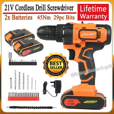 View Details CORDLESS COMBI HAMMER IMPACT DRILL DRIVER ELECTRIC SCREWDRIVER & 1.5AH BATTERY • 51.89£