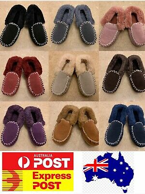 AU42.50 • Buy UGG Sheepskin Moccasin Slippers, Comfy 100% Sheepskins, Ladies Sizes Measure
