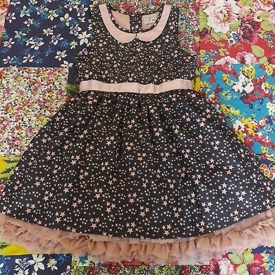 £8 • Buy Next Age 2-3 Girls Star Prom Dress Party Occasion Peter Pan Collar