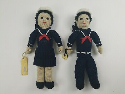 $249.99 • Buy WWII Military Handmade Dolls Navy Sailor, About 16  Made During WWII 1 Of A Kind