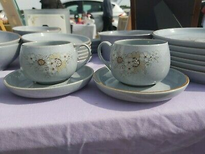 Denby Reflections 2 Tea Cups With Saucers • 10£