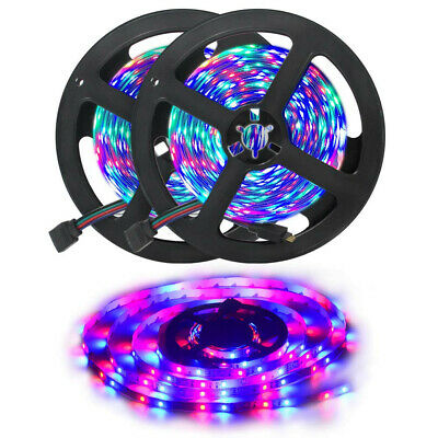 32.8Ft 10M SMD 3528 600 Led Strip Light RGB Remote Control Kit With Power Supply • 15.29$