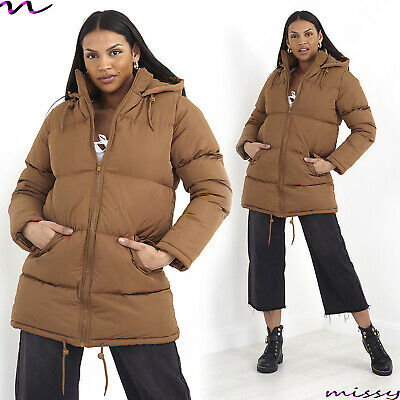 NEW Womens LADIES MAXI LONG PUFFER PARKA JACKET Quilted WINTER COAT Size 8-16 SH • 24.99£