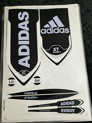 Adidas Xt Black V2 Cricket Bat Sticker. Buy One Get One Different Free Offer • 10.99£