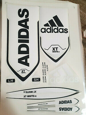 Adidas Xt White V2 Cricket Bat Sticker. Buy One Get One Different Sticker Free • 7.99£