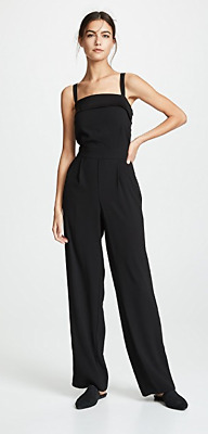 $195 • Buy NWT Vince Tuxedo Jumpsuit One Piece In Black Size 10 $445