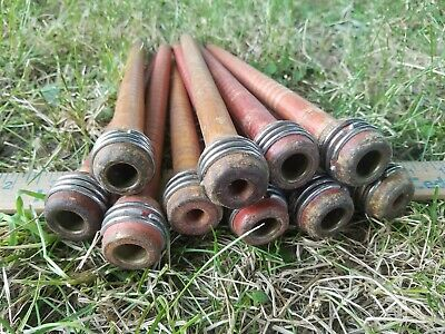 $20 • Buy Lot Of 10 Vintage Wooden Industrial Textile Thread Spindles Bobbins 8 3/4