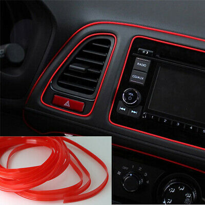 $2.86 • Buy 5M Car Interior Decor Red Point Edge Gap Door Panel Accessories Molding Line