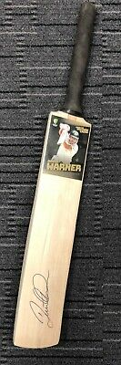 AU299 • Buy David Warner Hand Signed Full Size Cricket Bat Official Certificate Ashes Smith