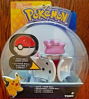 TOMY Pokemon Throw 'N' Pop Poke Ball With Collectible Ditto Figure • 8.57£