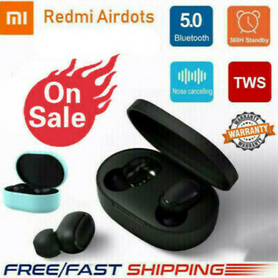 $10.69 • Buy Original NEW XIAOMI Redmi AIRDOTS WIRELESS EARPHONE W/ CHARGER BOX Bluetooth P2