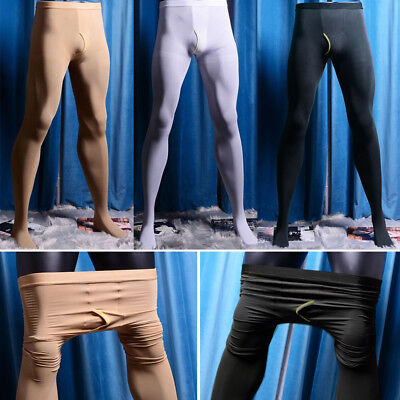 $14.99 • Buy Mens Pantyhose Velvet Thick Elastic Stocking Footed Tights Underwear Open Crotch