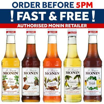 Monin Coffee And Cocktail Syrups - USED BY COSTA COFFEE - 25cl Glass Bottles • 5.65£