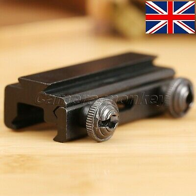 UK Tactical 20mm Dovetail To 11mm Weaver Picatinny Rail Scope Mount Base Adapter • 9.69£