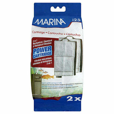 MARINA I25 REPLACEMENT FILTER POWER CARTRIDGE IN SMALL FISH TANK - 3 PACK • 14.74£