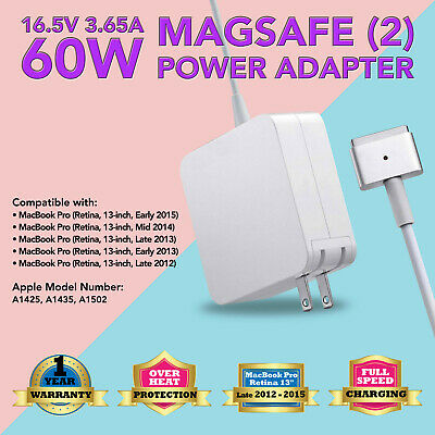 $15.63 • Buy 60W Power Charger Adapter For Apple MacBook Pro 13  (Cmptbl With Magsafe2 A1435)