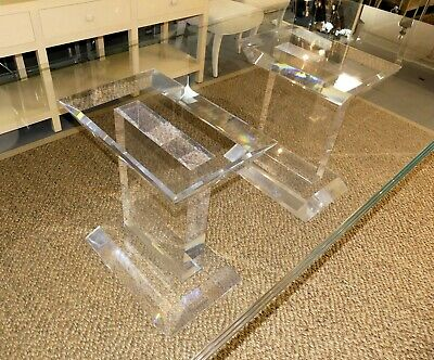 $12000 • Buy 1676-101: Spectrum Lusaka Lucite Dining Table Bases- A Pair