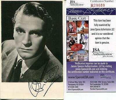 Laurence Olivier Signed Photo Autograph Shakespearean Actor JSA COA • 102.67£