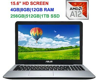 """View Details 2019 Newest ASUS 15.6"""" Laptop AMD A12 Quad-Core 2.7GHz, Up To 16GB RAM & 1TB SSD • 379.00$"""