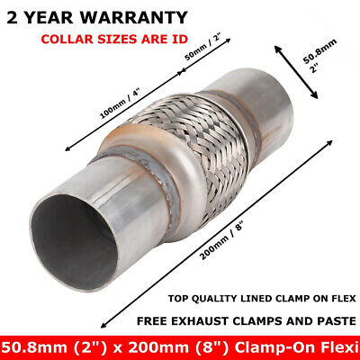 Exhaust Clamp-on Flexi Tube Joint Flexible Pipe Repair 50 X 200mm 2  X 8  Inch • 6.99£