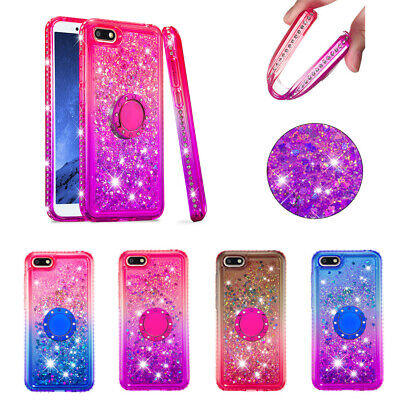 AU17.99 • Buy For Huawei Y5 Y6 2018 P30 Mate 20 Pro Glitter Diamond Quicksand Stand Cover Case
